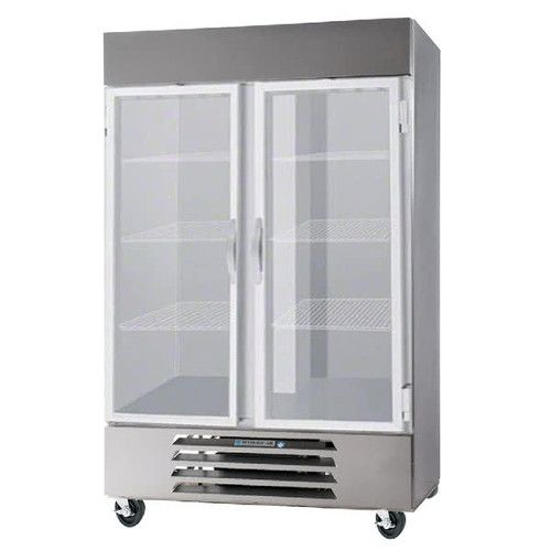 Beverage Air HBF49HC-1-G Glass Door Two Section Reach-In Freezer