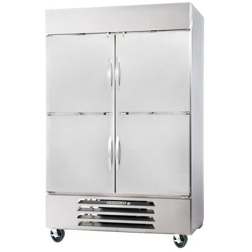 Beverage Air HBF49HC-1-HS Half Solid Two Section Reach-In Freezer (Replaces HBF49-1-HS)
