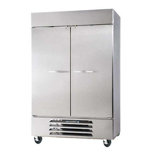 Beverage Air HBF44HC-1-S Solid Door Two Section Reach-In Freezer (Replaces HBF44-1-S)