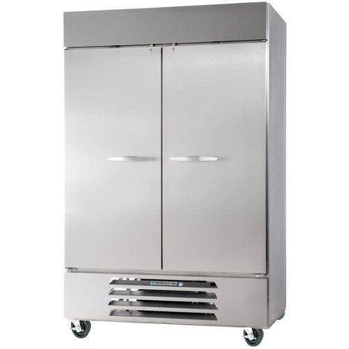 Beverage Air HBF49HC-1-S Solid Door Two Section Reach-In Freezer (Replaces HBF49-1-S)