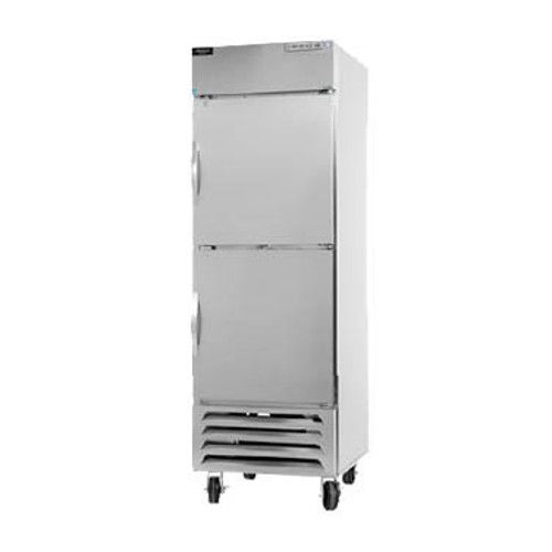 Beverage Air HBR23HC-1-HS Half Solid Single Section Reach-In Refrigerator