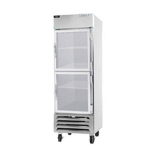 Beverage Air HBR27HC-1-HG Half Glass Single Section Reach-In Refrigerator