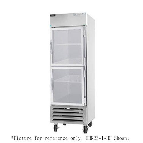 Beverage Air HBR44HC-1-HG Half Glass Two Section Reach-In Refrigerator