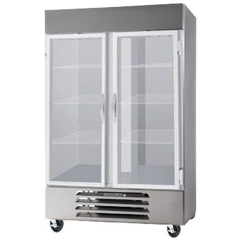 Beverage Air HBR49HC-1-G Glass Door Two Section Reach-In Refrigerator