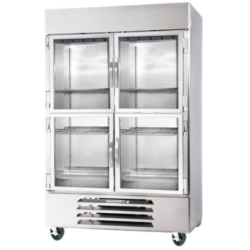 Beverage Air HBR49HC-1-HG Half Glass Two Section Reach-In Refrigerator
