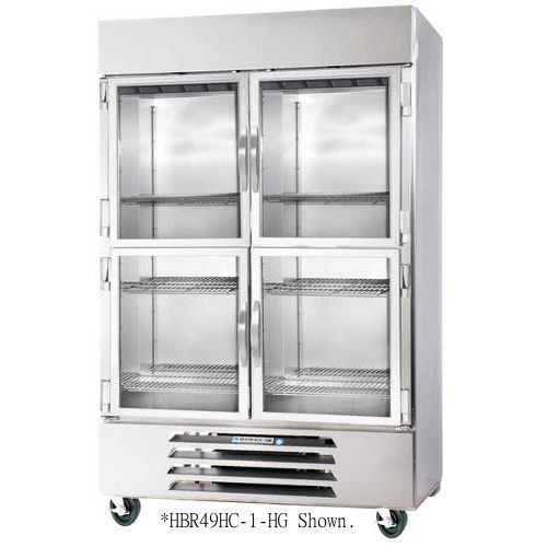 Beverage Air HBR72HC-1-HG Half Glass Three Section Reach-In Refrigerator