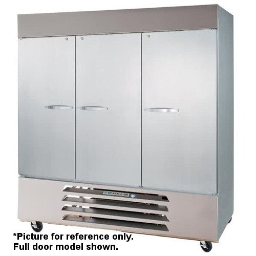 Beverage Air HBR72HC-1-HS Half Solid Three Section Reach-In Refrigerator (Replaces HBR72-1-HS)