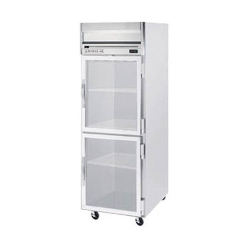 Beverage Air HR1HC-1HG Half Glass Single Section Reach-In Refrigerator