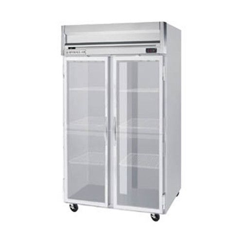 Beverage Air HR2HC-1G Glass Door Two Section Reach-In Refrigerator (Replaces HR2-1G)