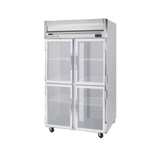 Beverage Air HR2HC-1HG Half Glass Two Section Reach-In Refrigerator (Replaces HR2-1HG)