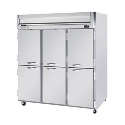 Beverage Air HR3HC-1HS Half Solid Three Section Reach-In Refrigerator (Replaces HR3-1HS)