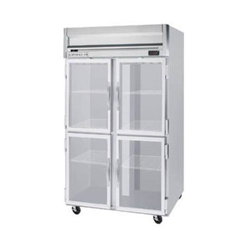 Beverage Air HRPS2HC-1HG Half Glass Two Section Reach-In Refrigerator (Replaces HRPS2-1HG)