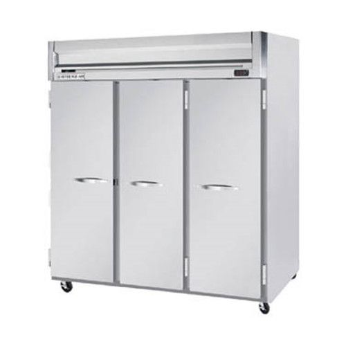Beverage Air HRPS3HC-1S Solid Door Three Section Reach-In Refrigerator (Replaces HRPS3-1S)