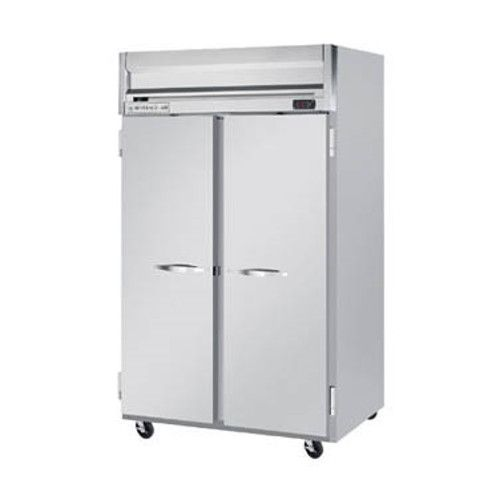Beverage Air HRS2HC-1S Solid Door Two Section Reach-In Refrigerator (Replaces HRS2-1S)