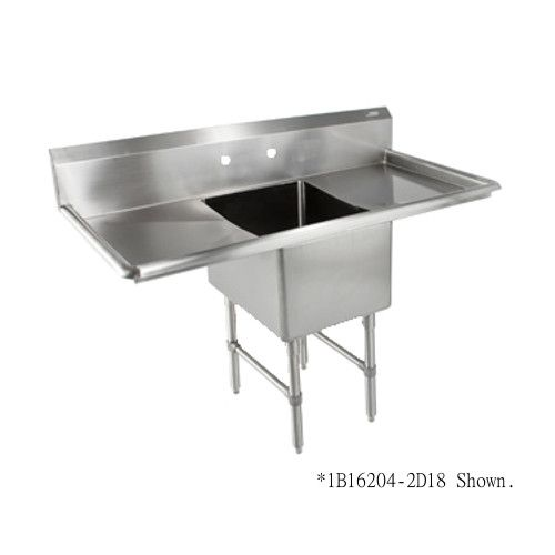 John Boos 1B18244-2D24 One Compartment Sink with Two 24