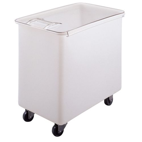Cambro IB44148 42-1/2 Gallon Capacity Ingredient Bin (White With Clear Cover)