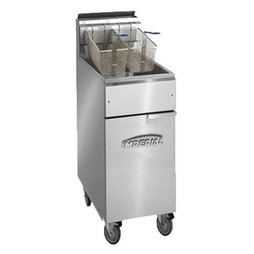 Imperial IFS-40-OP Full Open Pot Gas Fryer - 40 lb. Capacity