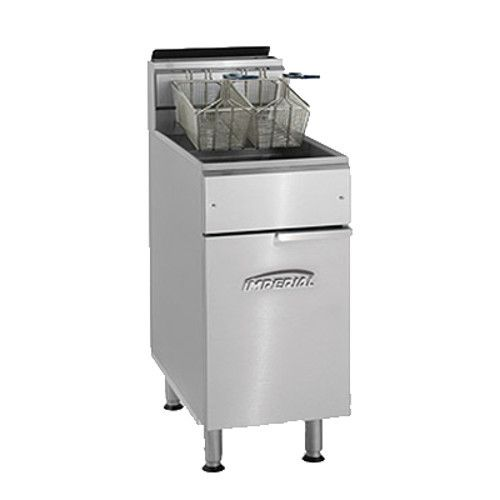 Imperial IFS-75 Full Pot Gas Fryer with 75 lb. Capacity