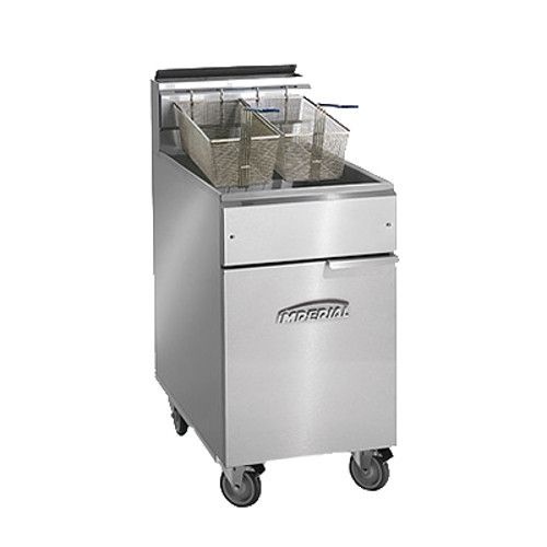 Imperial IFS-75-OP Full Open Pot Gas Fryer - 75 lb. Capacity