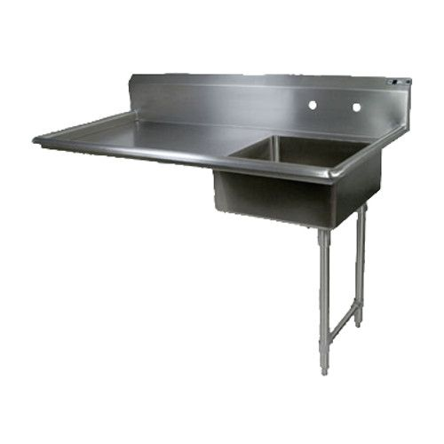 John Boos JDTS-20-50UCR Soiled Straight Undercounter Dishtable with Pre-Rinse Sink
