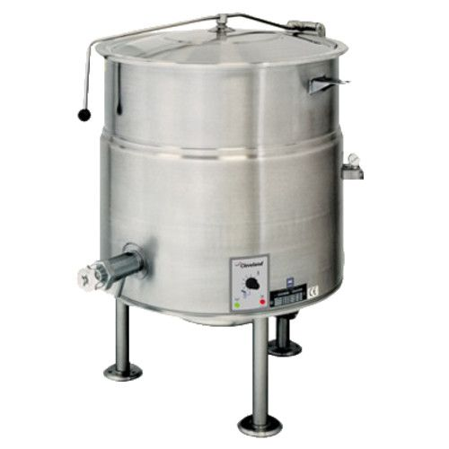 Cleveland KEL40 40 Gallon Capacity Electric Stationary Direct Steam Kettle