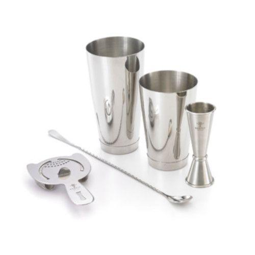 Mercer M37101 5-Piece Stainless Steel Barfly Basics Set