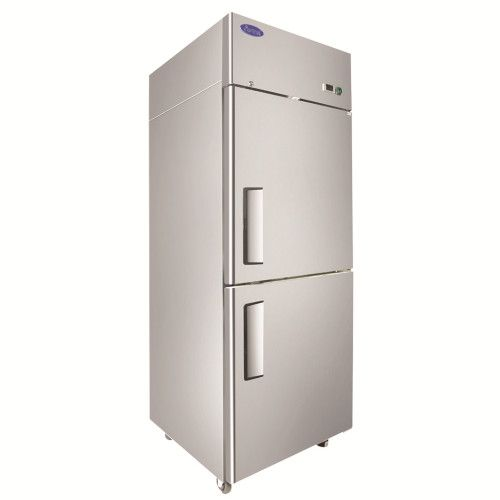 Atosa MBF8007GR One Section Upright Freezer with Solid Half Doors