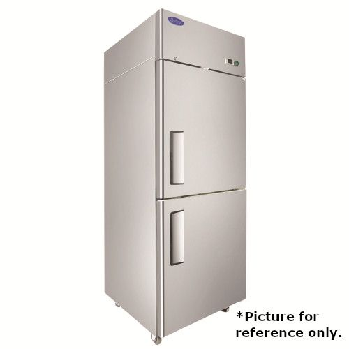 Atosa MBF8007GRL One Section Upright Freezer with Left Hinged Solid Half Doors