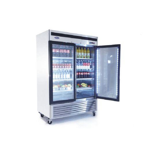 Atosa MCF8707GR Glass Door Merchandiser Refrigerator