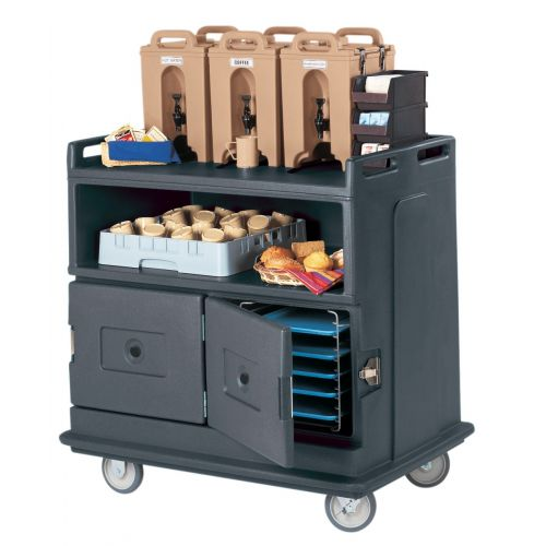Cambro MDC24191 Beverage Service Cart (Granite Gray)