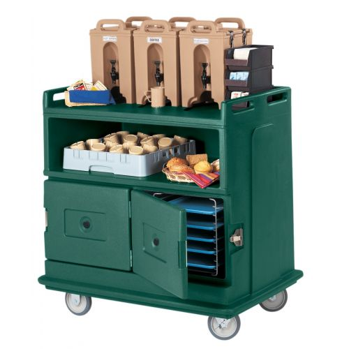 Cambro MDC24192 Granite Green Beverage Service Cart
