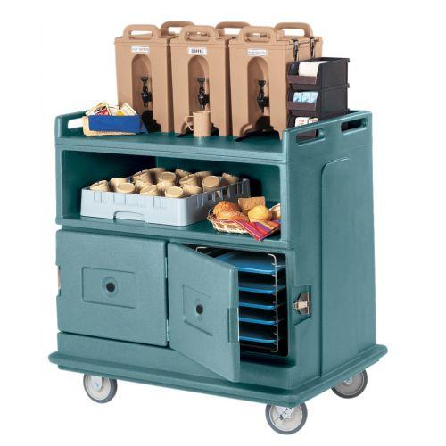 Cambro MDC24401 Slate Blue Beverage Service Cart