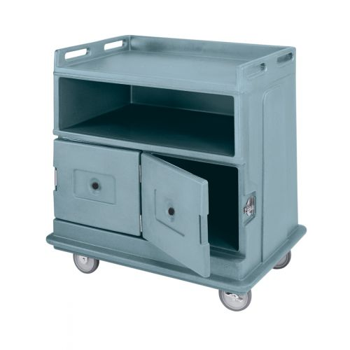 Cambro MDC24F401 Slate Blue Beverage Service Cart with Flat Top