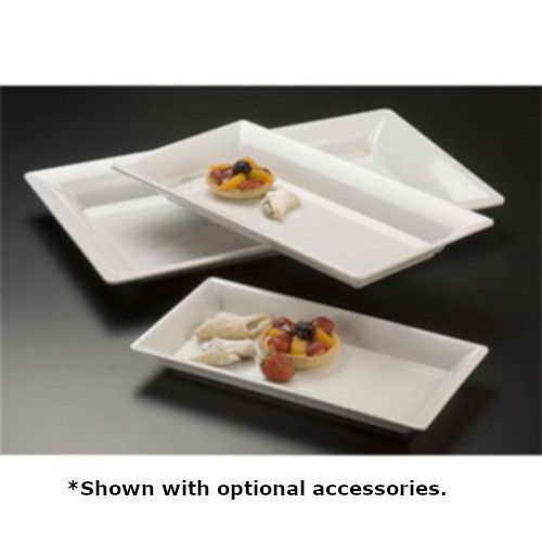American Metalcraft MEL23 Rectangular Plastic Endurance Platter (Case of 12)