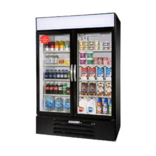 Beverage Air MMR49HC-1-B Reach-In 2 Section MarketMax Refrigerated Merchandiser