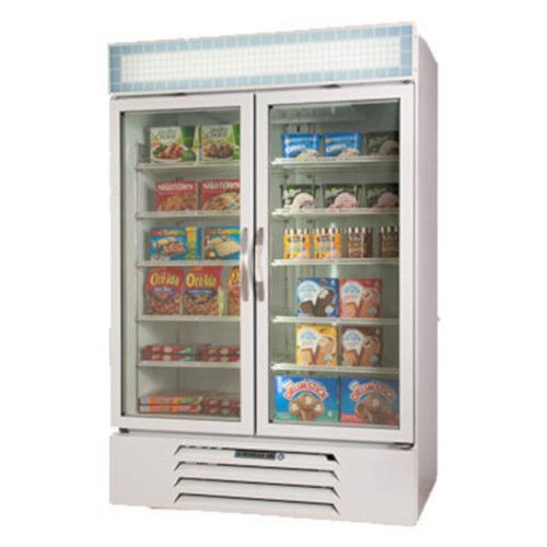 Beverage Air MMR49HC-1-W Reach-In 2 Section MarketMax Refrigerated Merchandiser