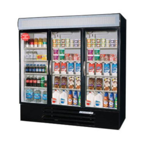 Beverage Air MMR72HC-1-B Reach-In 3 Section MarketMax Refrigerated Merchandiser