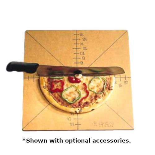 American Metalcraft MPCUT4 Wood Pizza Slice Cutting Board and Guide (Case of 6)