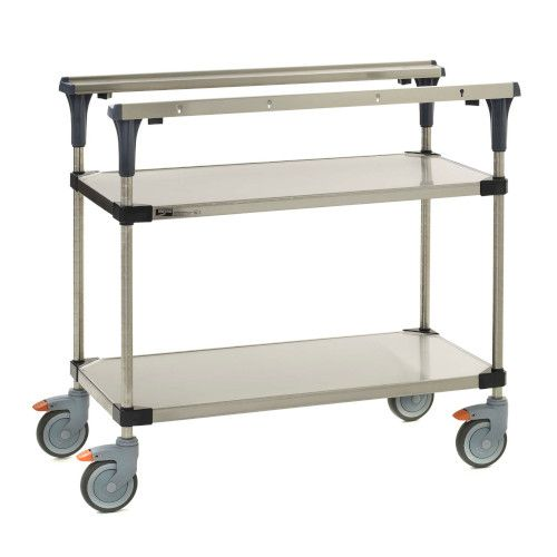 Metro MS1824-FGFG PrepMate® 18X24 Solid Galvanized MultiStation Prep Cart