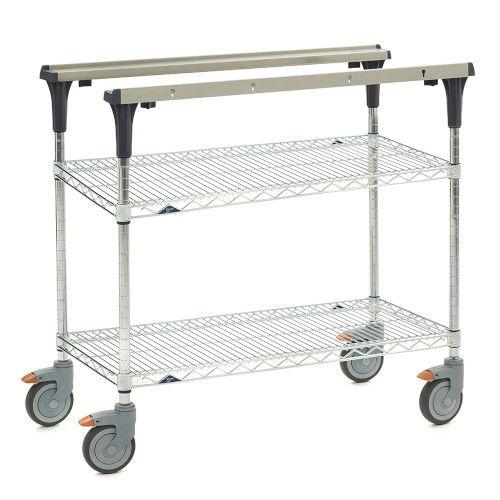 Metro MS1836-BRBR PrepMate® 18X36 Multistation Mobile Prep Cart