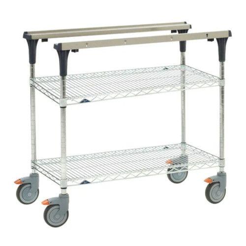 Metro MS1848-BRBR PrepMate® 18X48 Multistation Mobile Prep Cart