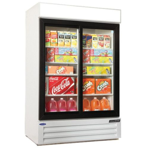 Nor-Lake NLGRP48-SL-W Slide Door Merchandiser Refrigerator