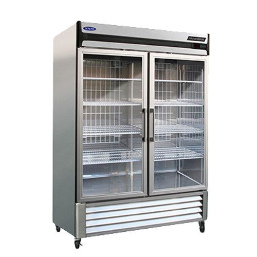 Nor-Lake NLR49-G Two Section Glass Door Reach-In Refrigerator