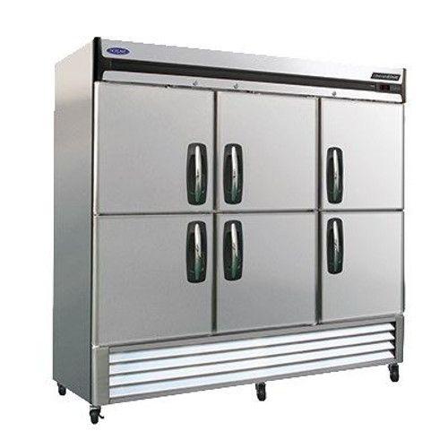 Nor-Lake NLR72-SH Three Section Half-Door Reach-In Refrigerator