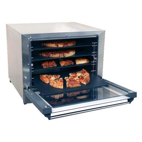 Cadco OV-023P Electric Countertop Convection Oven with Four Pizza Heat Plate Shelves