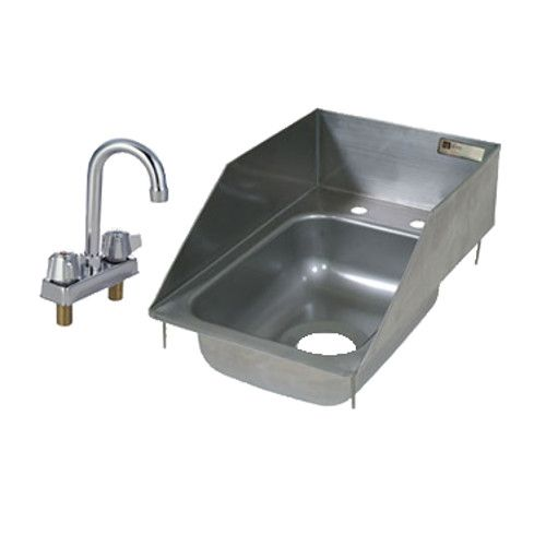 John Boos PB-DISINK101405-P-SSLR One-Compartment Drop-In Sink with Economy Gooseneck Faucet (PBF-4-DLF)