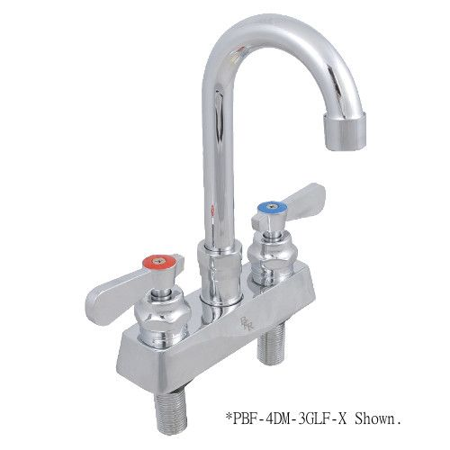 John Boos PBF-4DM-5GLF Deck Mount Heavy Duty Sink Mixing Faucet with 5