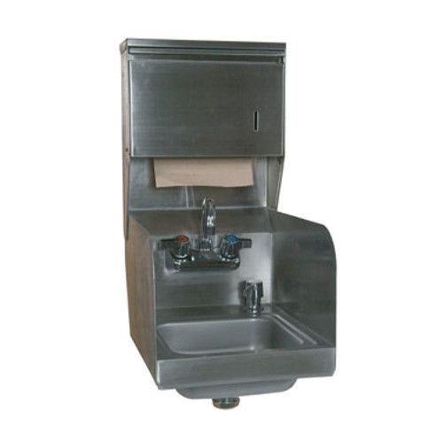 John Boos PBHS-99-P-SSTD Wall Mount Pro-Bowl Hand Sink with Soap and Towel Dispensers