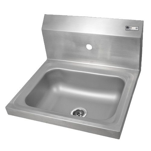 John Boos PBHS-W-1410-1 Wall-Mount Pro-Bowl Hand Sink with One Centered Splash Mount Faucet Hole (Faucet NOT Included)