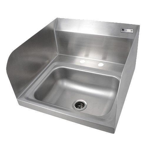 John Boos PBHS-W-1410-2DM-SSLR Wall Mount Pro-Bowl Hand Sink with Left and Right Side Splashes